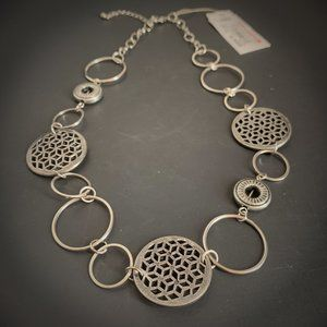 Sonoma Necklace Silver Circles Lightweight NEW
